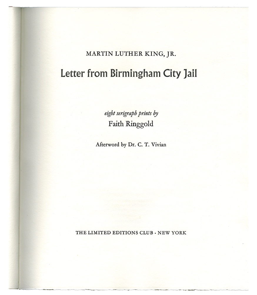 the racial equality in letter from birmingham jail by martin luther king jr The letter from birmingham jail, also known as the letter from birmingham city jail and the negro is your brother, is an open letter written on april 16, 1963, by martin luther king jr.